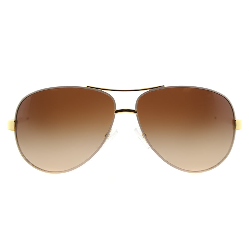 24e5c497e9 Shop Tory Burch TY 6035 302011 T-Print Aviator Ivory Gold Metal Aviator  Brown Gradient Lens Sunglasses - Free Shipping Today - Overstock - 11829271