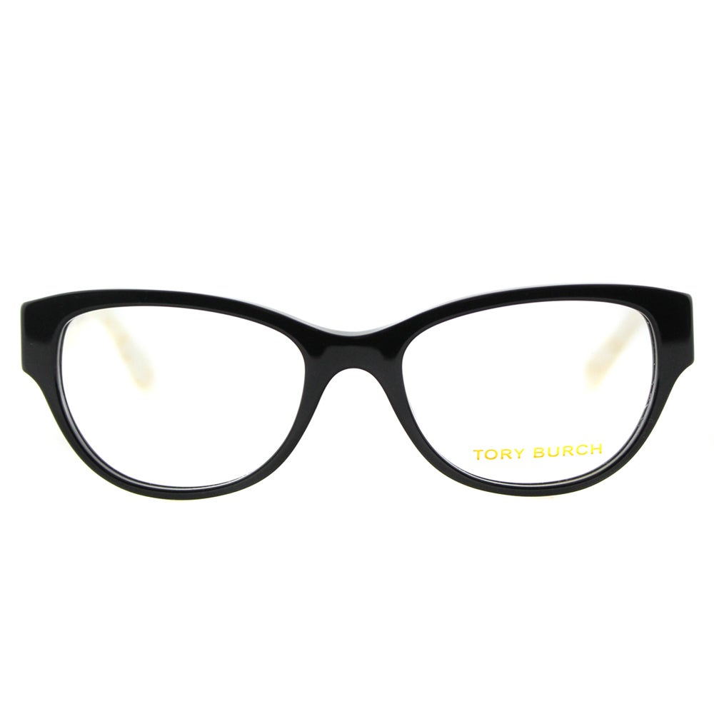 6c44509396b Shop Tory Burch TY 2060 3148 Black Ivory Marble Plastic Cat-Eye 50mm  Eyeglasses - Free Shipping Today - Overstock.com - 11829403