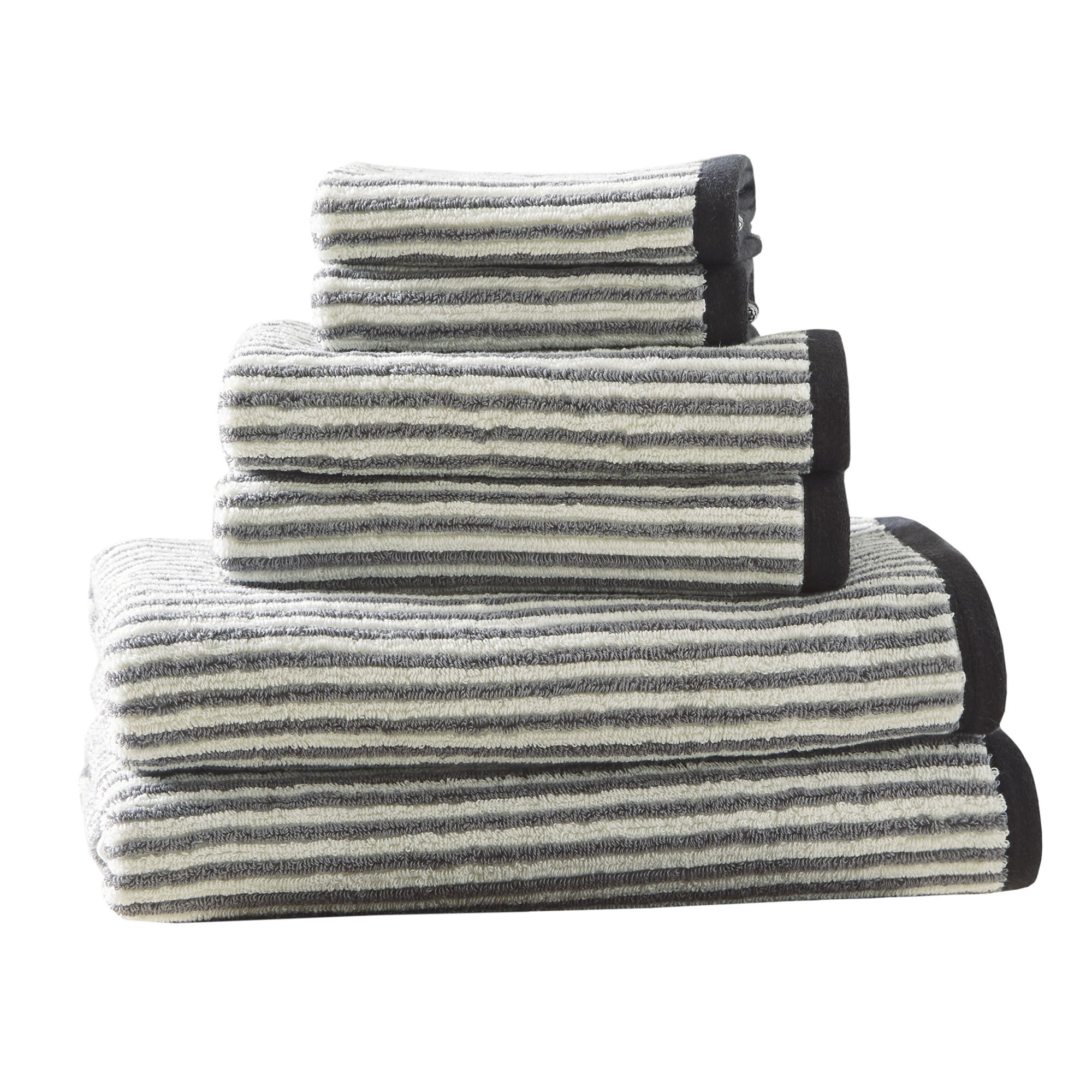 Hipstyle Dax Grey Cotton Jacquard Towel Set Free Shipping Today 11829481