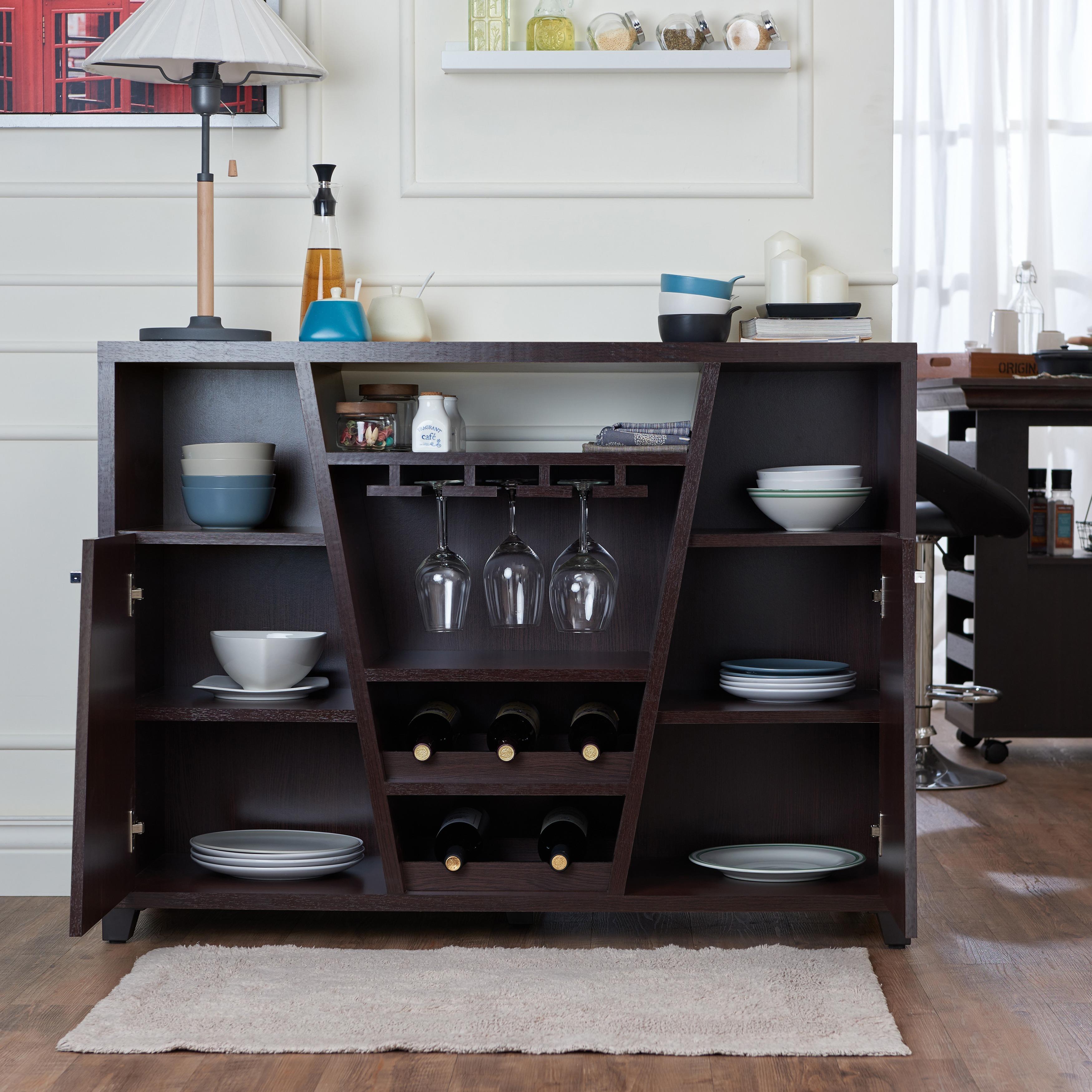 Furniture of America Verna Modern Espresso Multi-storage Dining ... | cbe furniture