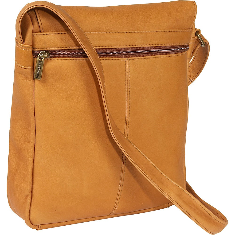 4230f1916c1a LeDonne Leather Over-shoulder Vertical Flap Bag