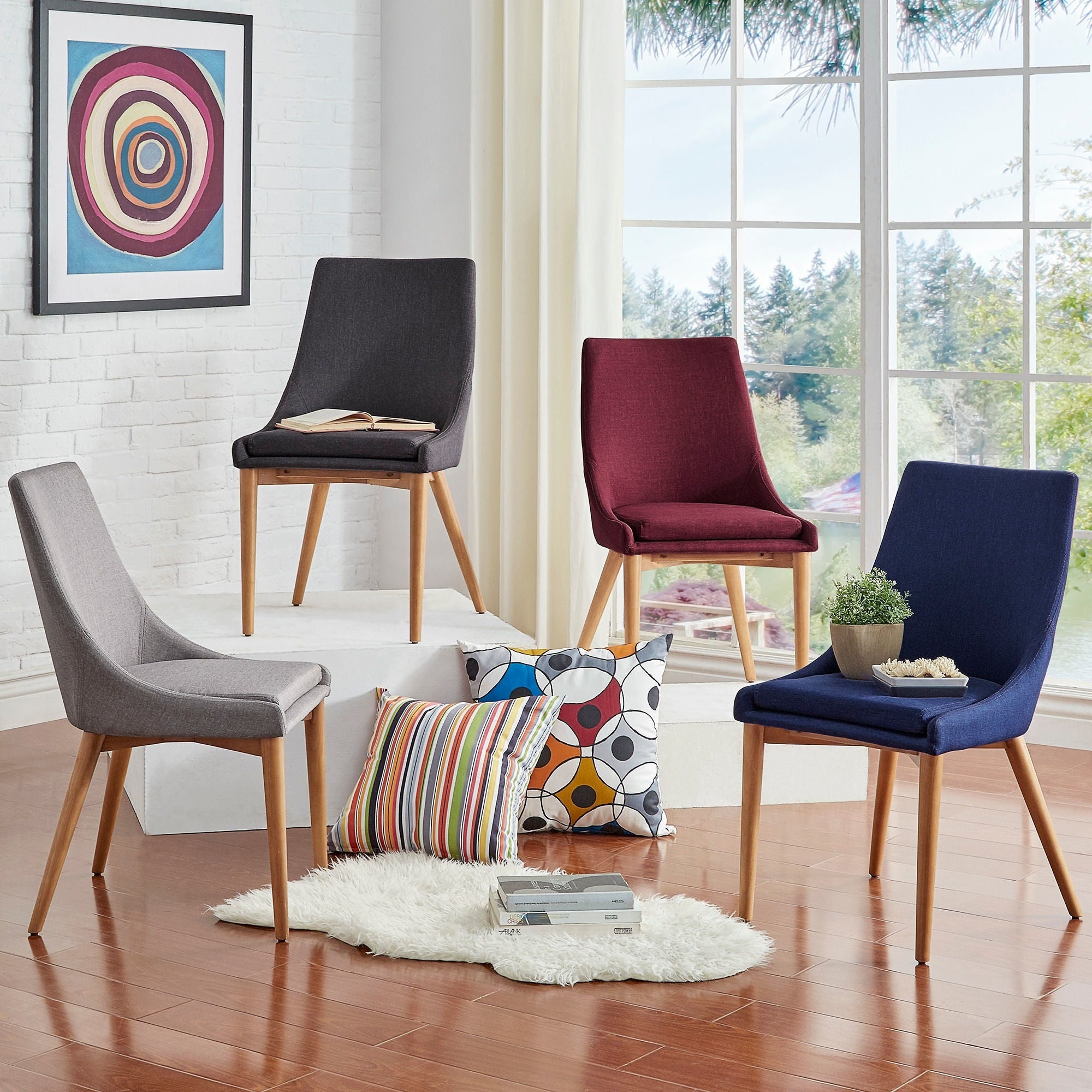 Sasha Oak Barrel Back Dining Chair (Set of 2) iNSPIRE Q Modern - Free  Shipping Today - Overstock.com - 18737573