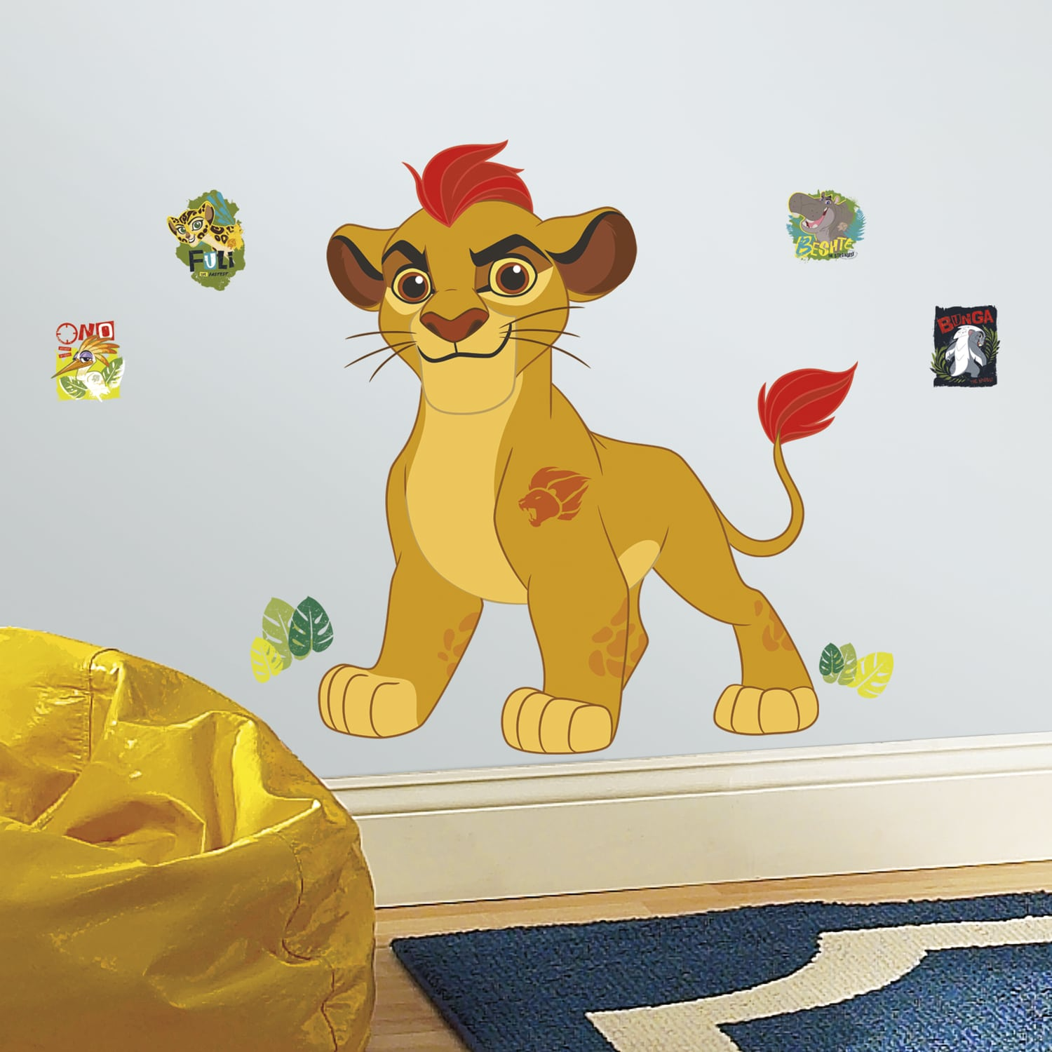 Shop Lion Guard Kion Peel and Stick Giant Wall Decals - Free ...