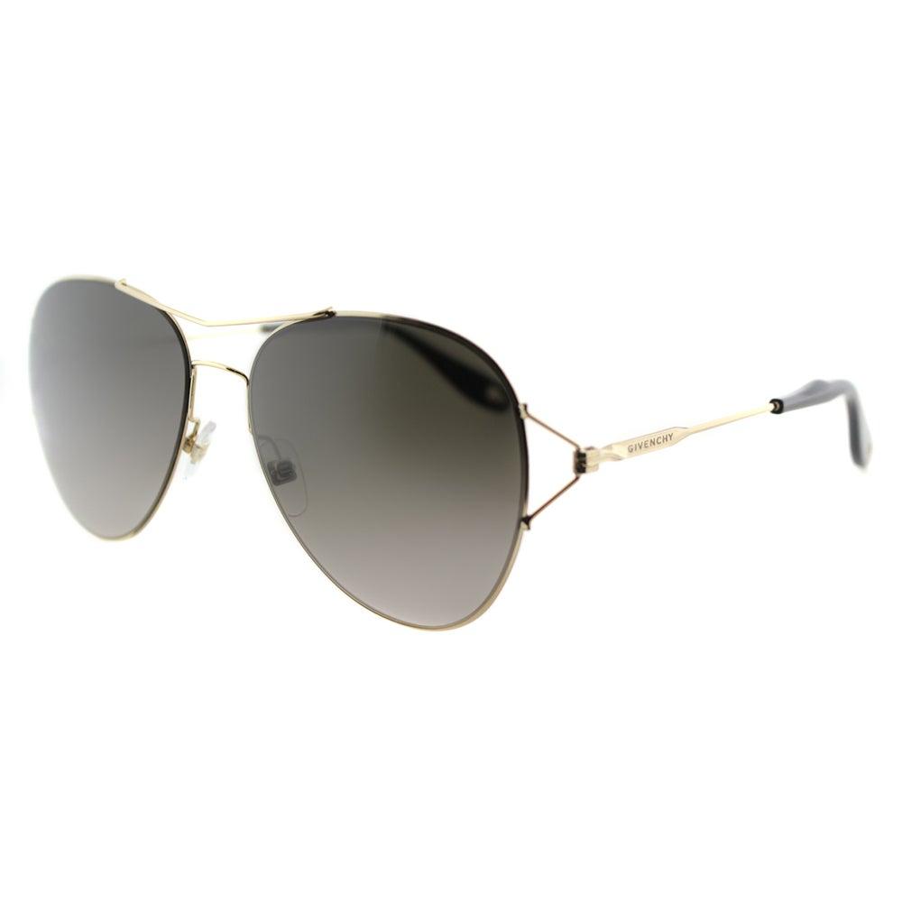 c06d9dfc11f Givenchy GV 7005 J5G Gold Metal Aviator Brown Gradient Lens Sunglasses