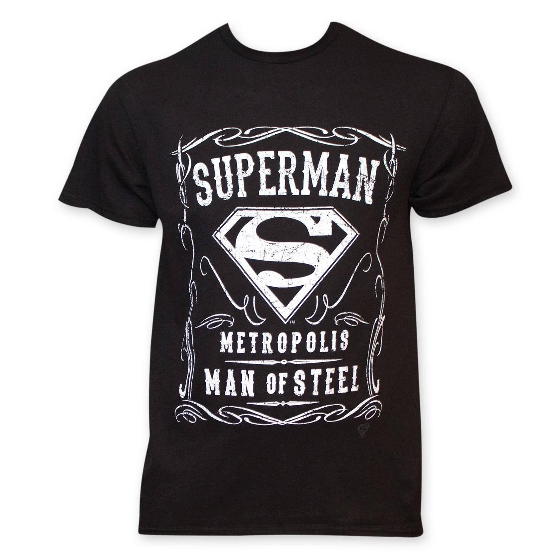 932590ed3 Superman Black Crew Neck T Shirt Man Of Steel – EDGE Engineering and ...