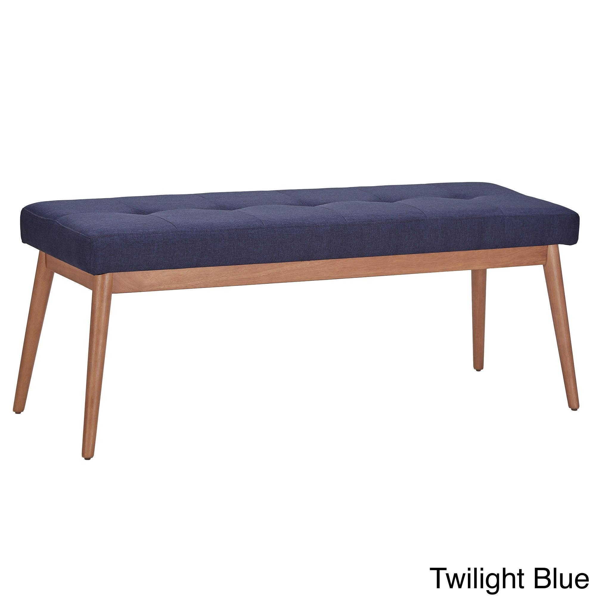 Sasha Oak Angled Leg Linen Dining Bench iNSPIRE Q Modern - Free Shipping  Today - Overstock.com - 18738979