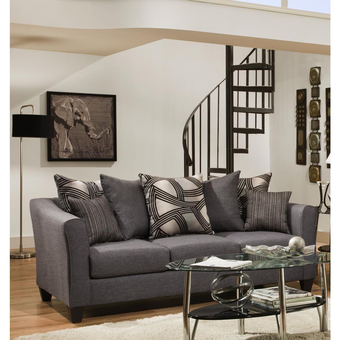 Sofa Trendz Angelo Grey Microfiber Sofa and