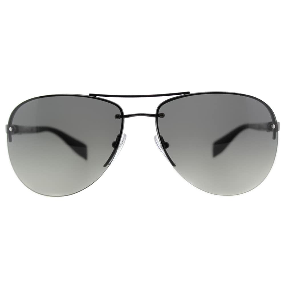 a9085836e11 Shop Prada Linea Rossa PS 56MS 5AV3M1 Gunmetal Metal Aviator Grey Gradient  Lens Sunglasses - Free Shipping Today - Overstock - 11836931