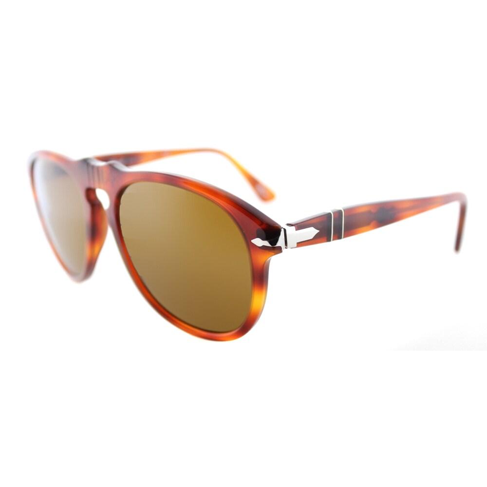 e36d87aa45 Persol PO 649 96 33 Light Havana Plastic Crystal Brown Lens 54mm Sunglasses