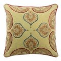 Waverly 'Swept Away' 18-inch Multicolored Cotton Embroidered Decorative Throw Pillow