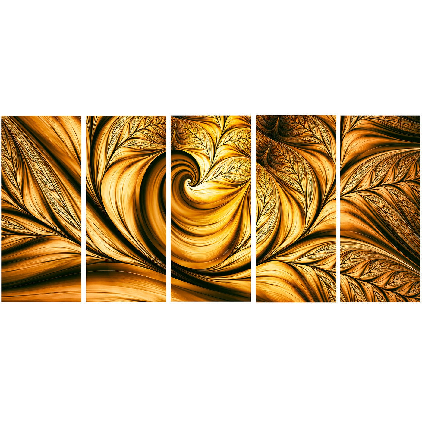 Shop Designart \'Golden Dream Abstract\' Metal Wall Art - On Sale ...