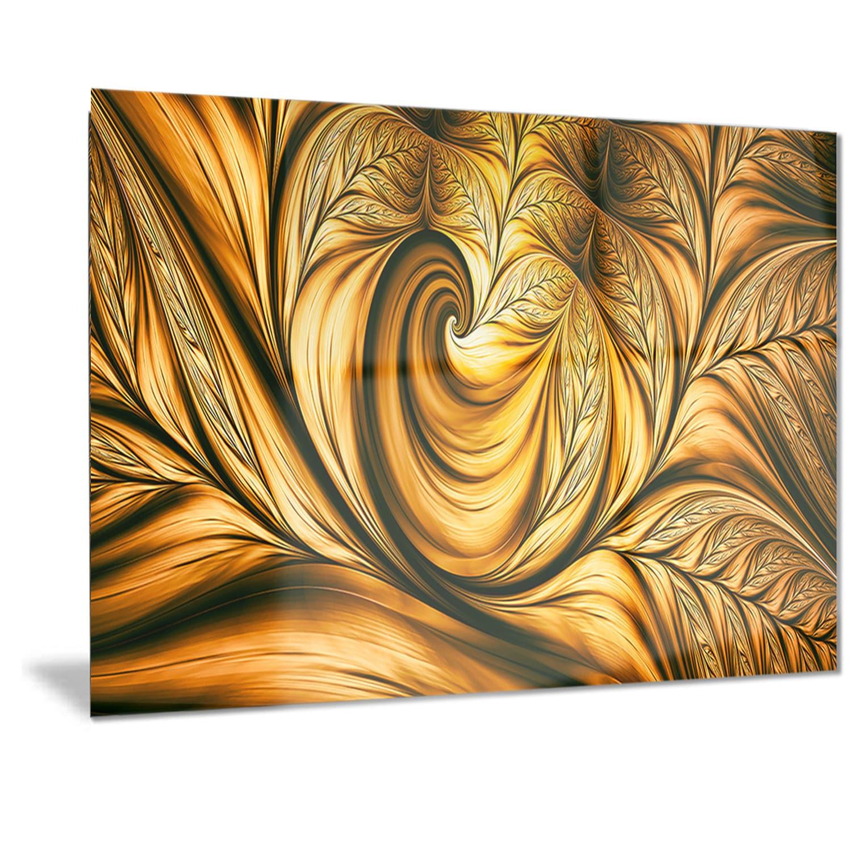 Shop Designart \'Golden Dream Abstract\' Metal Wall Art - Free ...