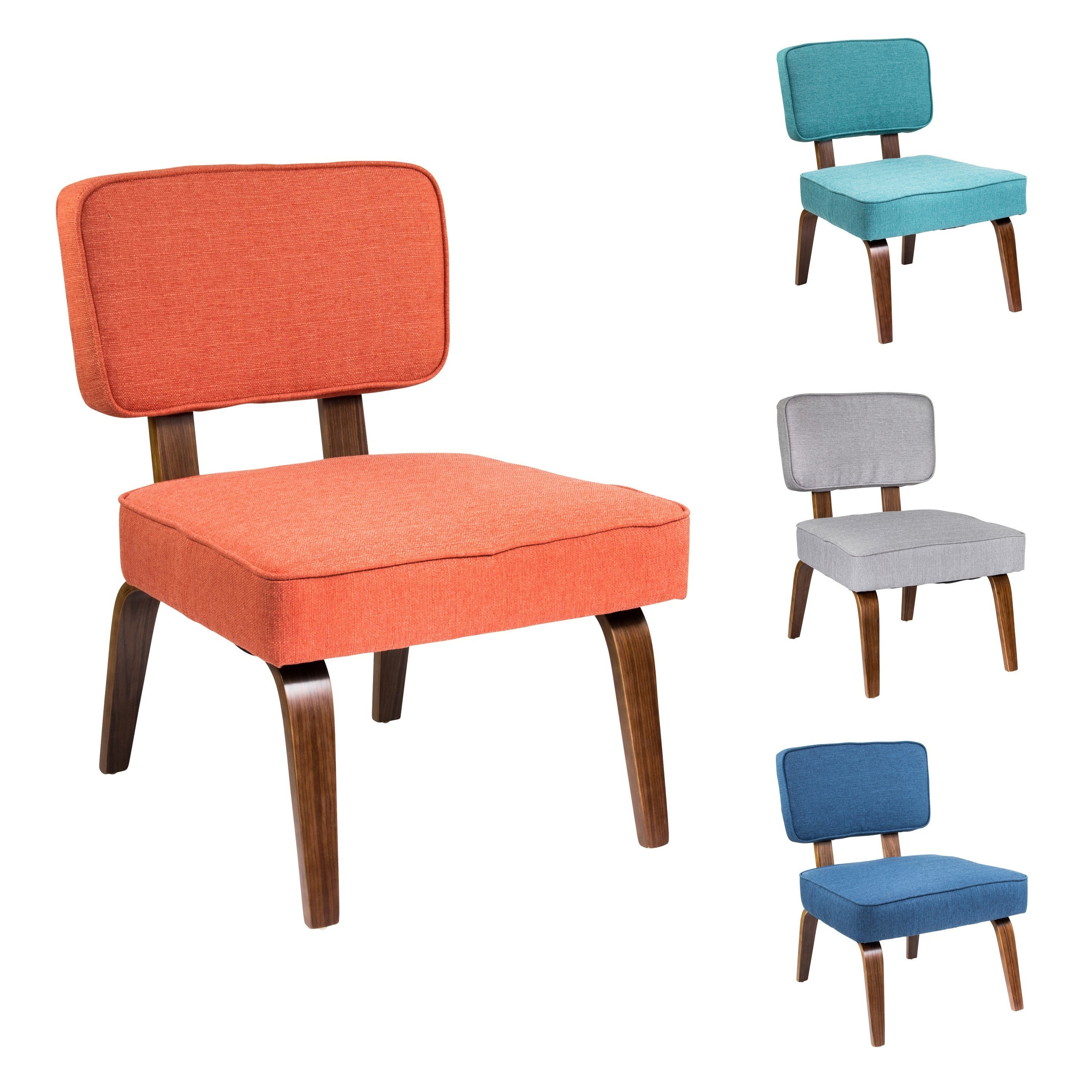 Shop Nunzio Mid Century Modern Wood Accent Chair Free Shipping