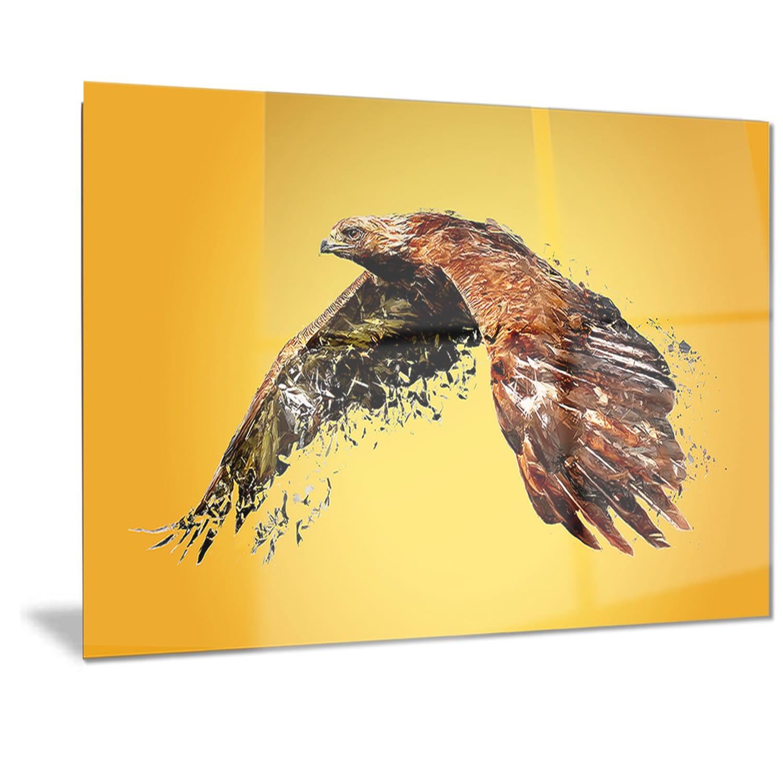 Designart \'Soaring Eagle\' Animal Metal Wall Art - Free Shipping ...