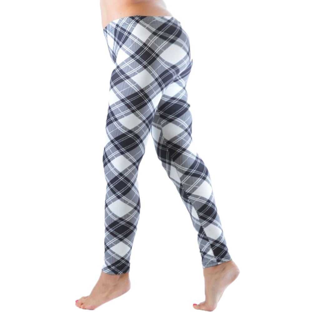 98eb5e046 Shop Women s Plus Size Black and White Plaid Leggings - On Sale - Free  Shipping On Orders Over  45 - Overstock - 11846336