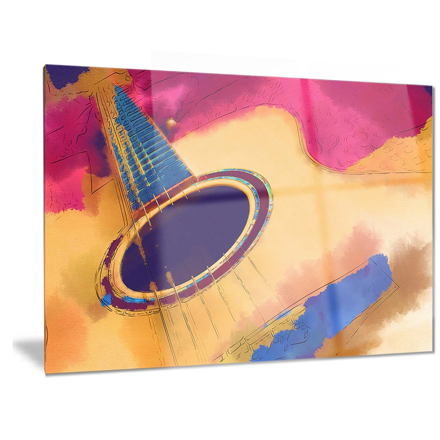 Designart \'Listen to the Colorful Music\' Music Metal Wall Art - Free ...