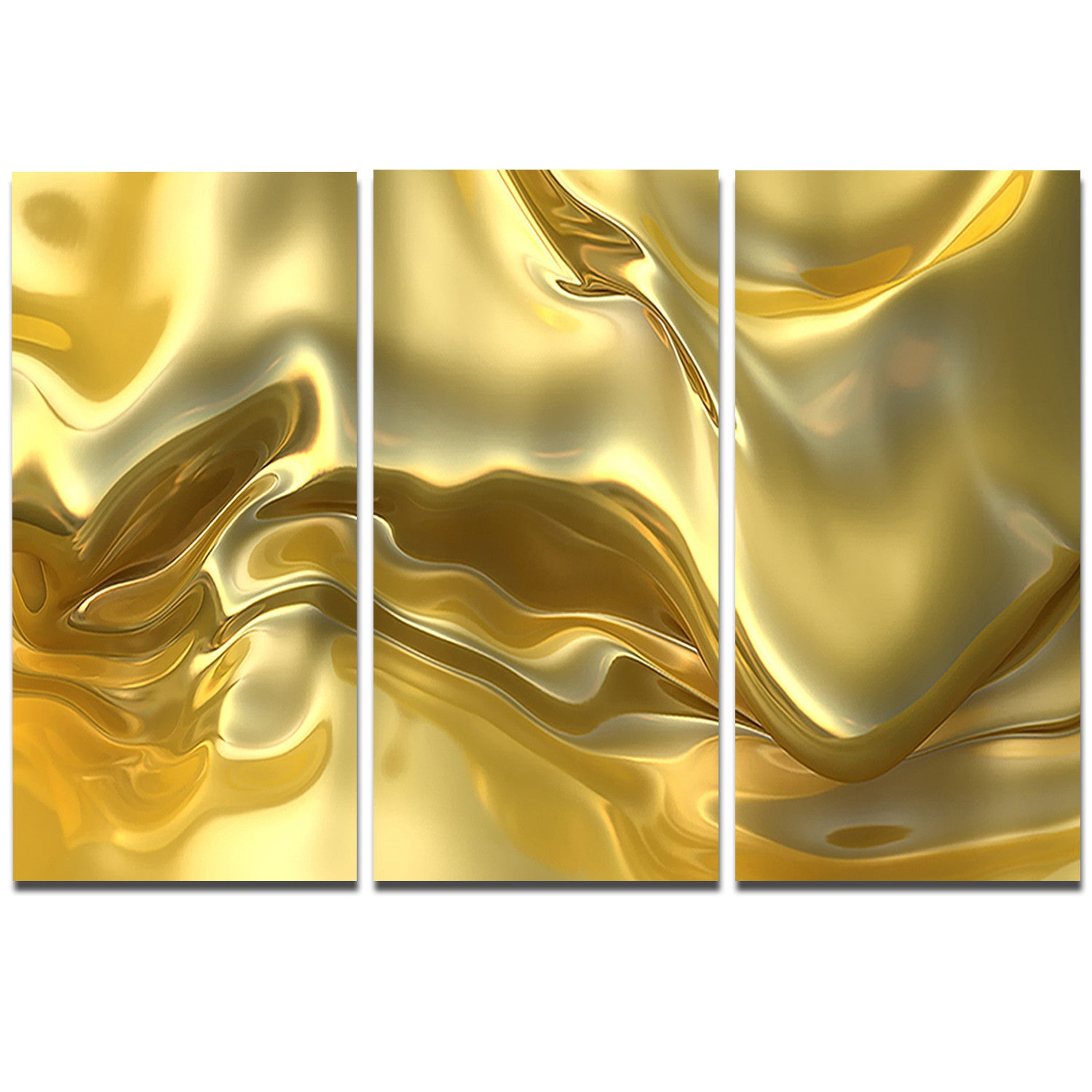 Designart \'Golden Cloth Texture\' Abstract Digital Art Metal Wall Art ...