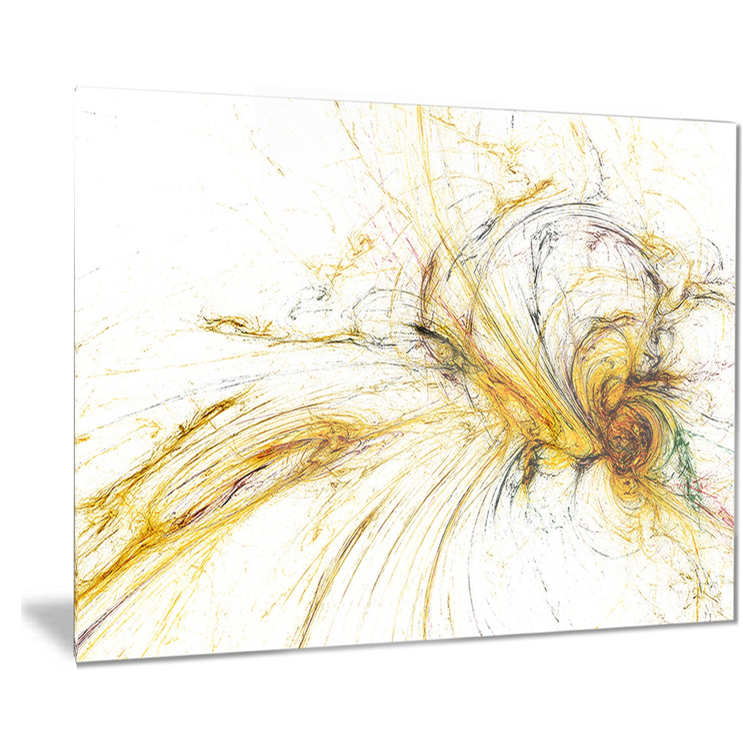 Designart \'Yellow Spiral Galaxy\' Abstract Digital Art Metal Wall Art ...