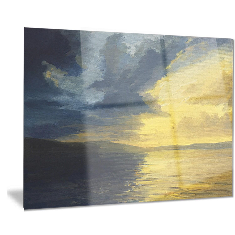 Shop Designart \'Sunset of Light and Shadows\' Landscape Painting ...