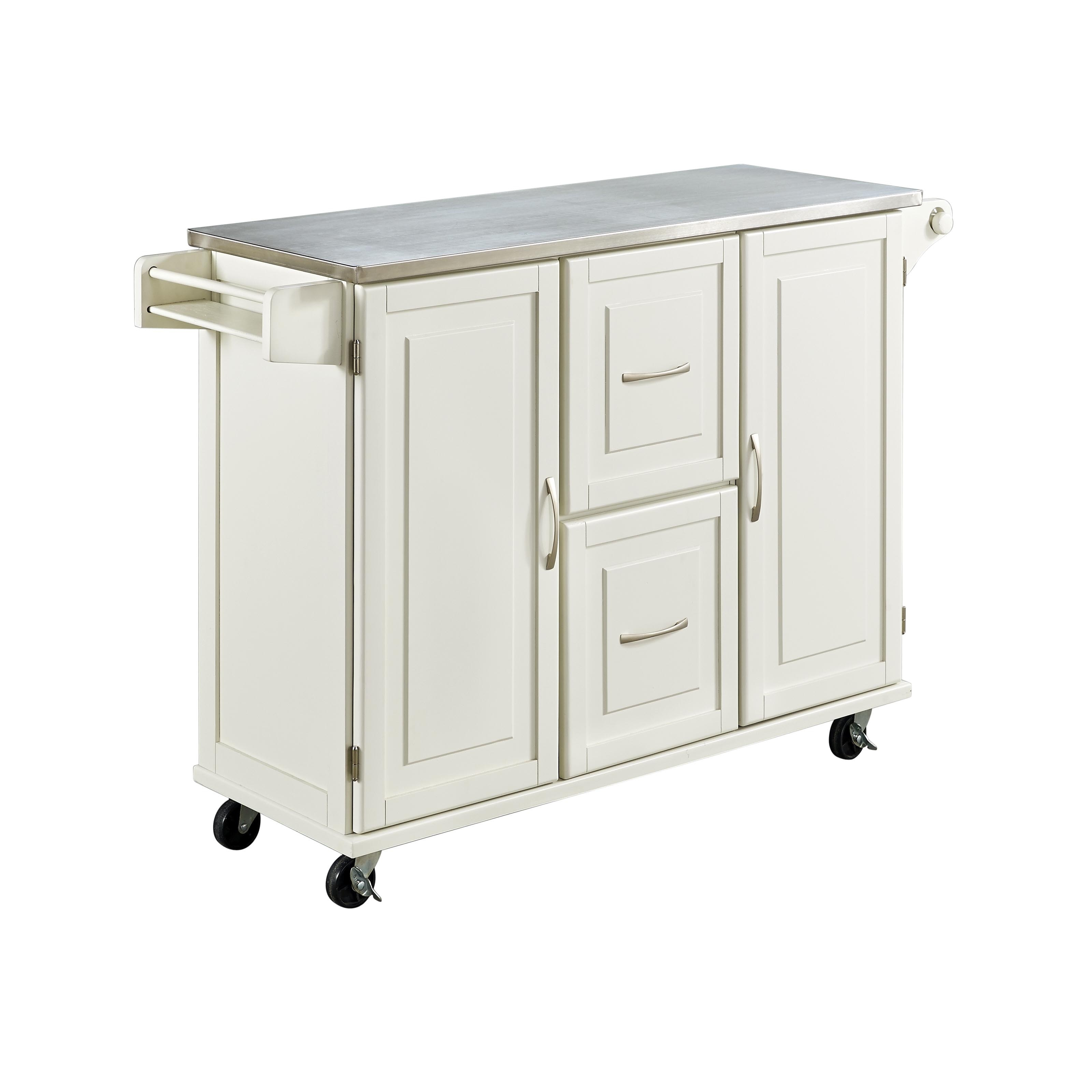Patriot White or Black Wooden Kitchen Cart by Home Styles Free