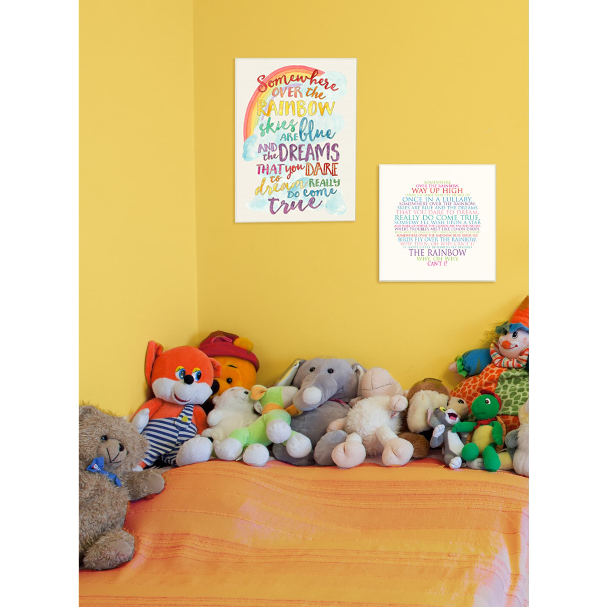 Shop Somewhere Over the Rainbow\' Stretched Canvas Wall Art - On Sale ...