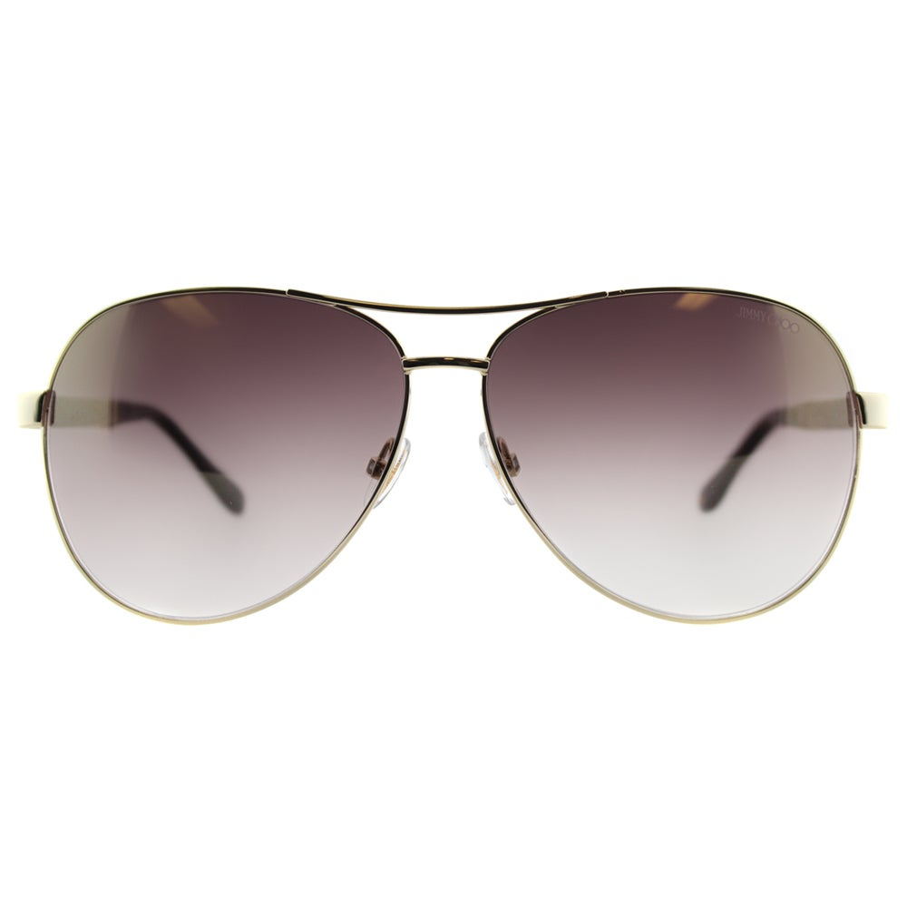 4138d7bbed Shop Jimmy Choo JC Lexie EJU Rose Gold Metal Aviator Gold Gradient Mirror  Lens Sunglasses - Free Shipping Today - Overstock - 11852872