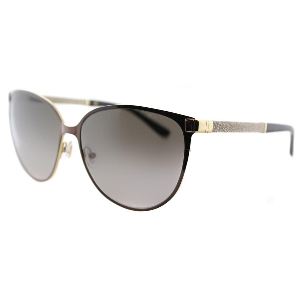 671b2c0b22 Jimmy Choo JC Posie F8G Brown Metal Cat-Eye Brown Gradient Lens Sunglasses