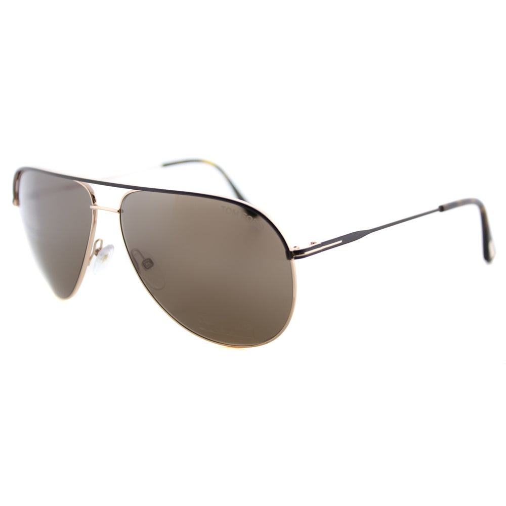 75ed24304464e Shop Tom Ford TF 466 50J Erin Brown And Gold Metal Aviator Brown Lens  Sunglasses - Free Shipping Today - Overstock - 11853234