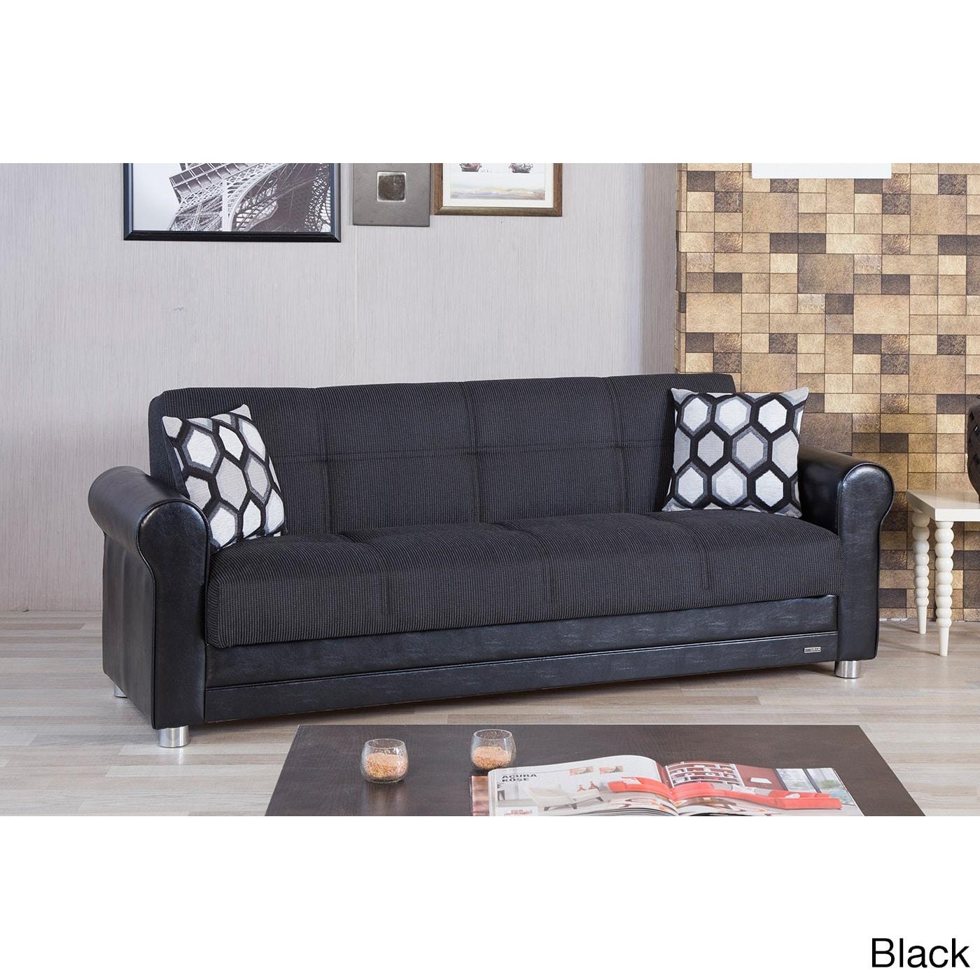 Shop Avalon Futon Convertible Sleeper Sofa Bed - On Sale - Free ...