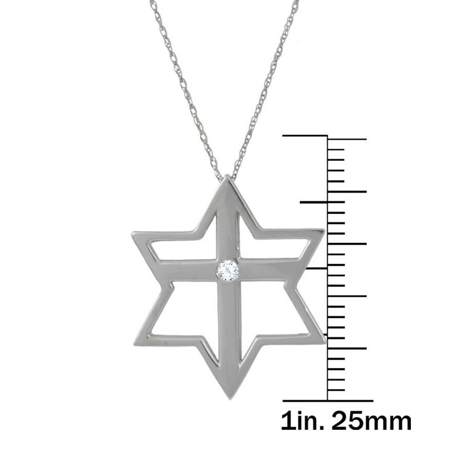 14k gold diamond accent judeo christian star cross necklace free 14k gold diamond accent judeo christian star cross necklace free shipping today overstock 18755946 biocorpaavc Images
