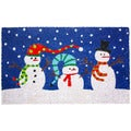 J & M Home Fashions 'Snowmen with Hats' Multicolored Vinyl Doormat (18 x 30)