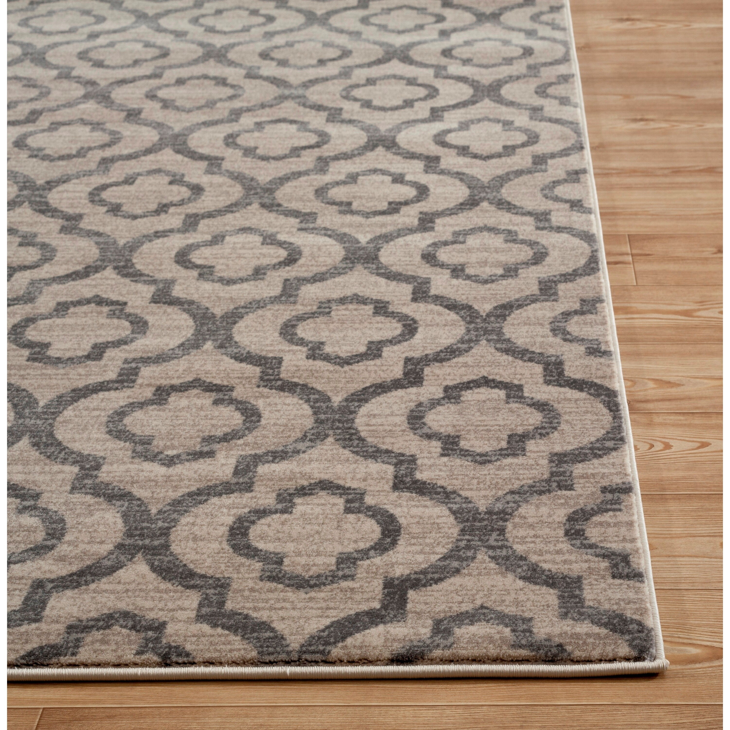 Moroccan Trellis Pattern High Quality Soft Cream Area Rug 3 X 5