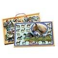 TS Shure Horses and Ponies 2 Large Puzzles in a Wooden Box