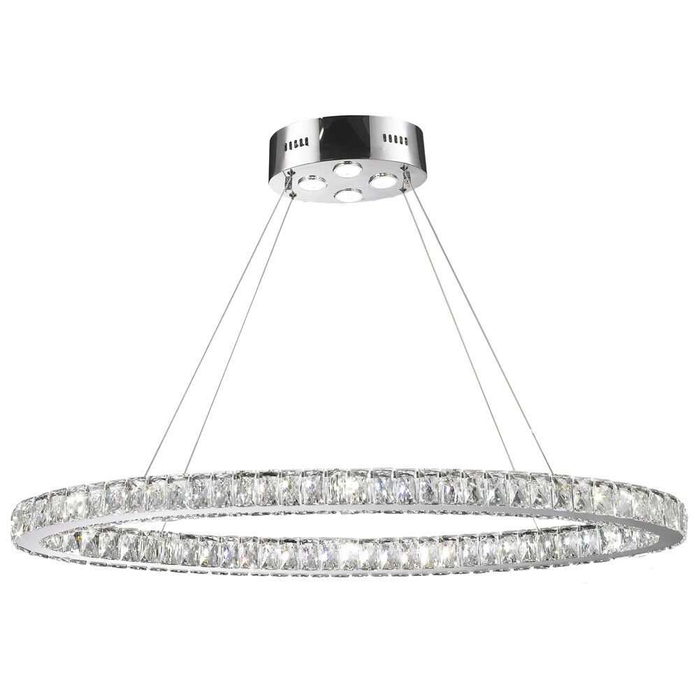 Galaxy 20 led light chrome finish and clear crystal oval ring galaxy 20 led light chrome finish and clear crystal oval ring chandelier free shipping today overstock 18761764 arubaitofo Choice Image