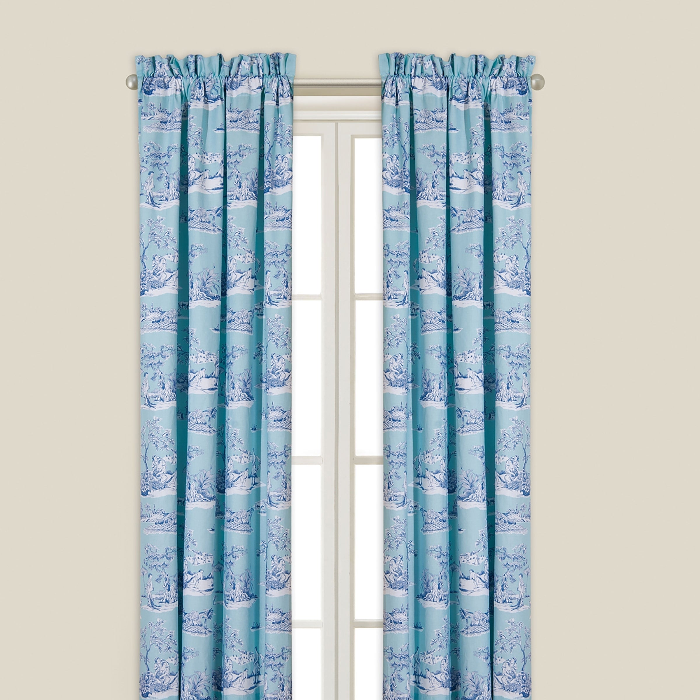 Hampstead Toile Window Drapery Panel On Free Shipping Today 11862103
