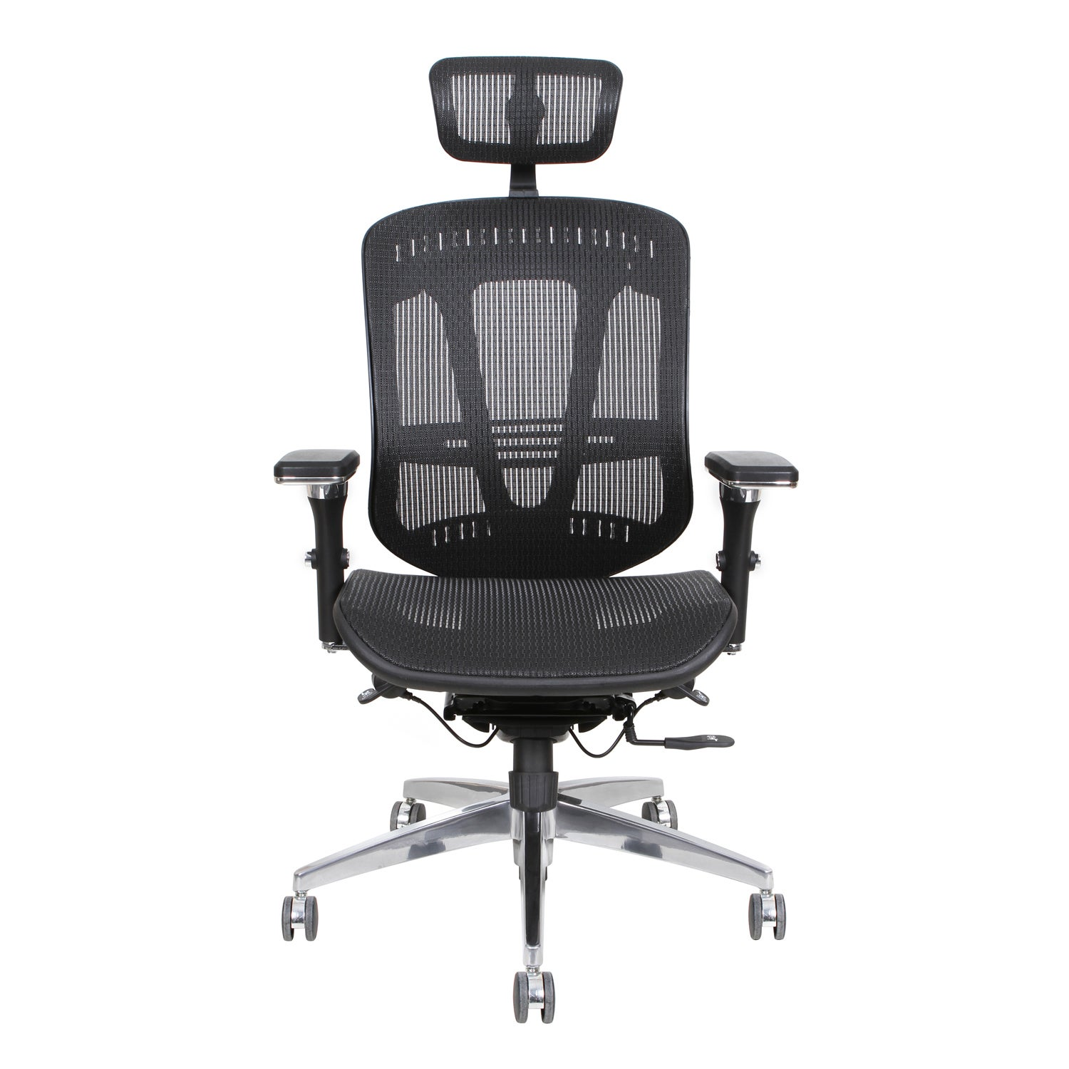 Shop Thorntonu0027s Office Supplies ErgoExec Black Mesh Metal/Plastic Swivel  Executive Office Chair   Free Shipping Today   Overstock   11862167
