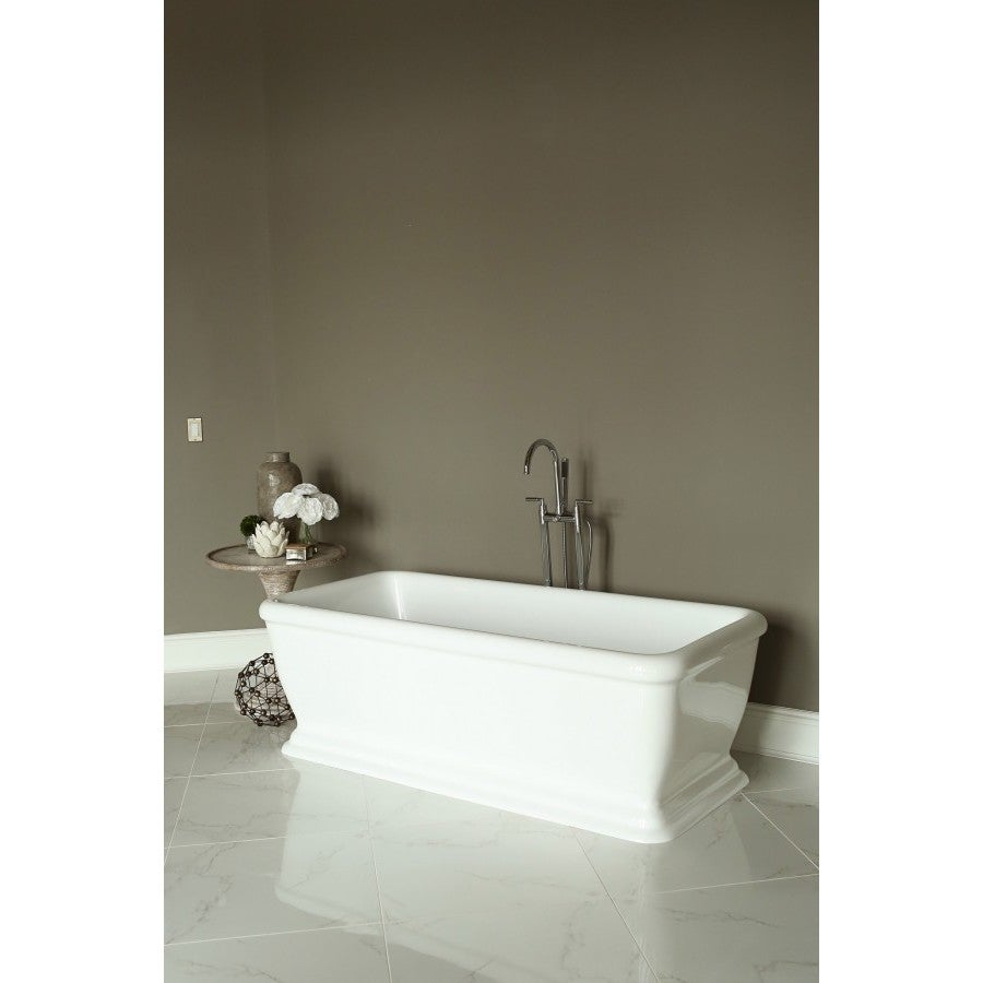 Signature White Acrylic Freestanding Bath Tub - Free Shipping Today ...