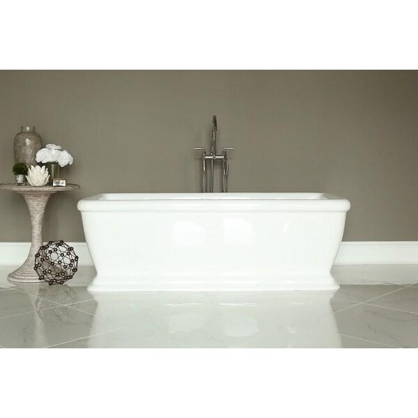 Shop Signature White Acrylic Freestanding Bath Tub - Free Shipping ...