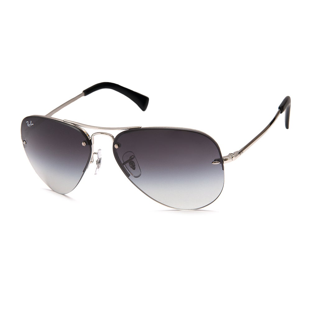ad6b1a255c Shop Ray Ban RB3449 003 8G Silver Frame Grey Gradient 59mm Lens Sunglasses  - Free Shipping Today - Overstock - 11862852