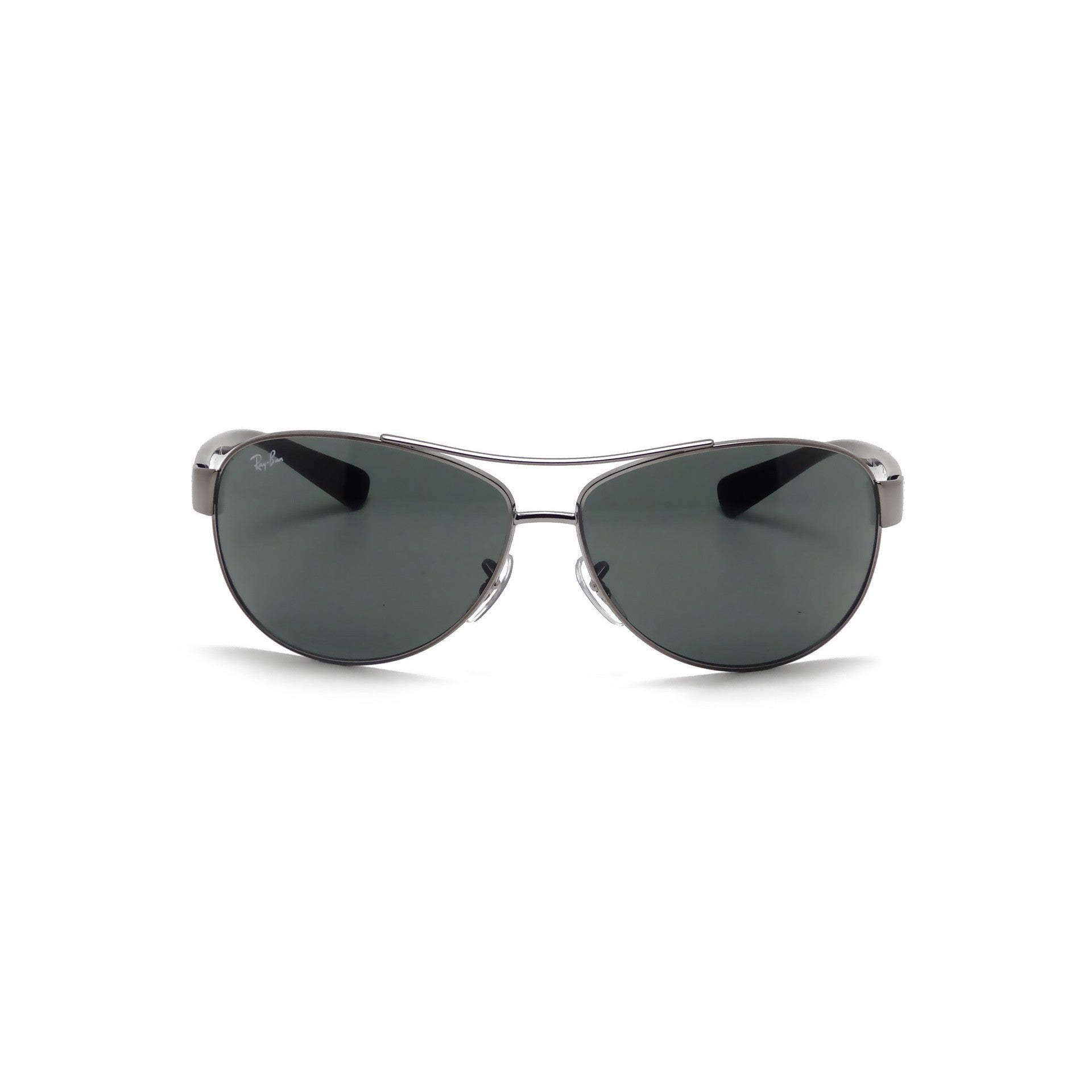 d220dc10ea Shop Ray Ban RB3386 004 71 Gunmetal Black Frame Green Classic 63mm Lens  Sunglasses - Free Shipping Today - Overstock - 11863067