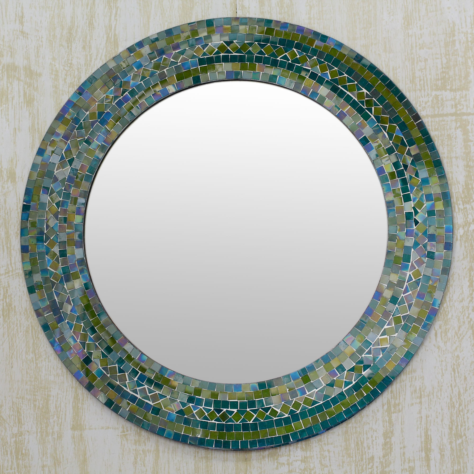 Handcrafted Glass Mosaic 'Forest Charm' Wall Mirror (India) - Free Shipping  Today - Overstock.com - 18764674