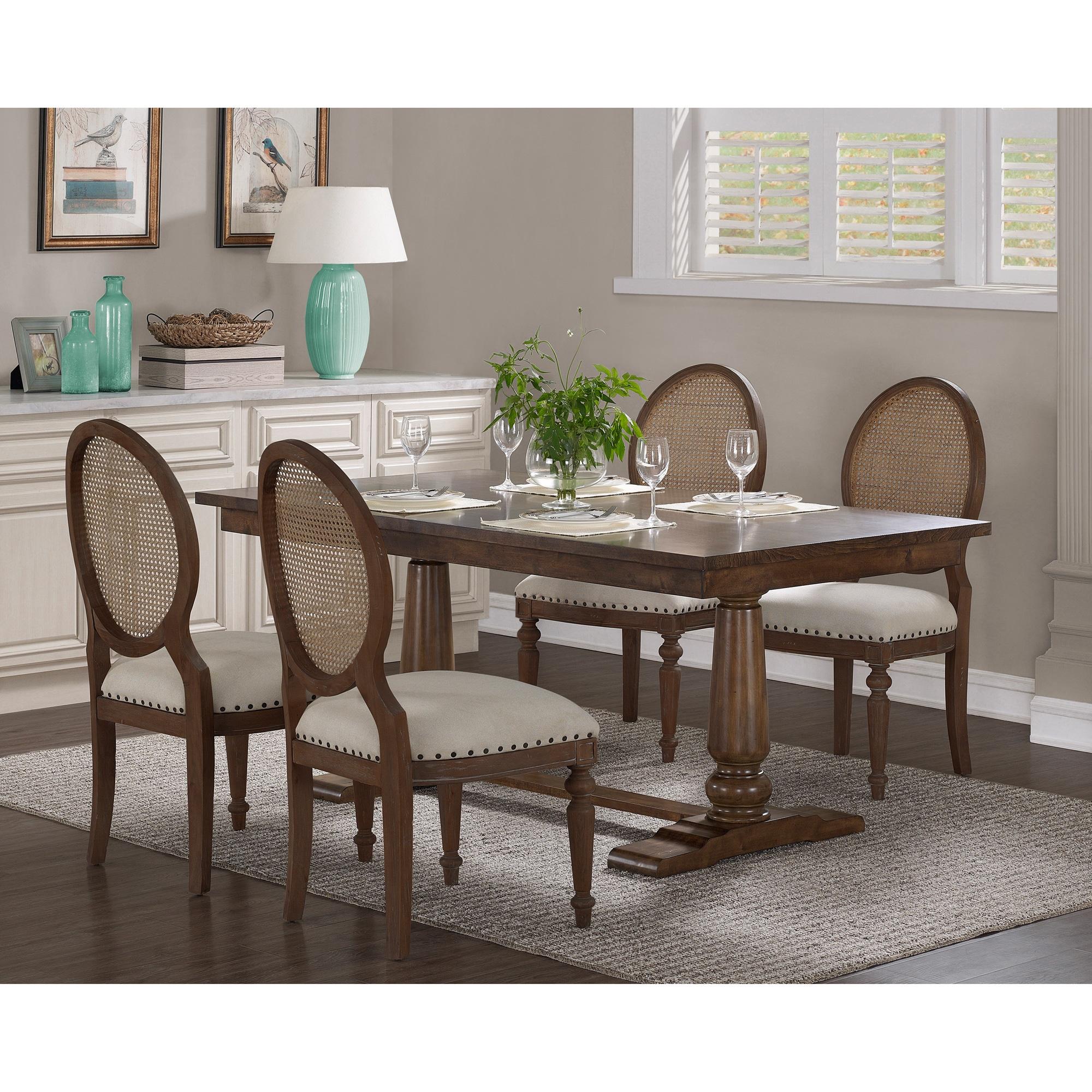 The Gray Barn Farmhouse Oak Pedestal Dining Table