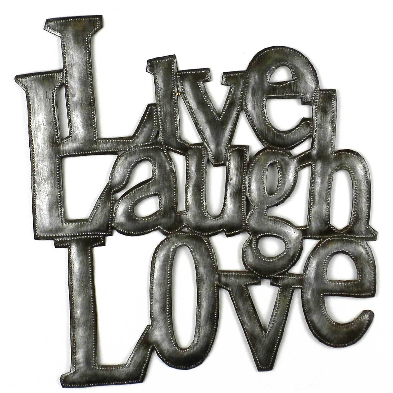 Shop Handmade Live Laugh Love Metal Wall Art Haiti Free