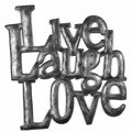 Handmade 'Live Laugh Love' Metal Wall Art (Haiti)
