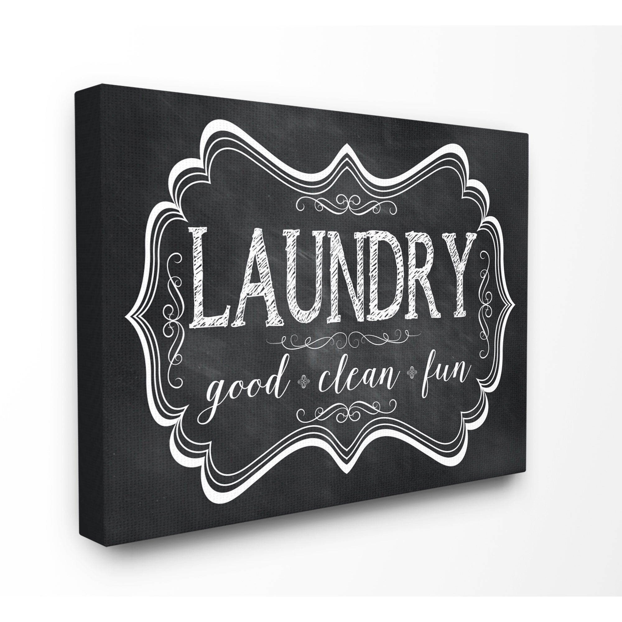 Laundry Wall Plaque Stunning Laundry Good Clean Fun' Chalkboardlook Wall Plaque Art  Free Decorating Inspiration