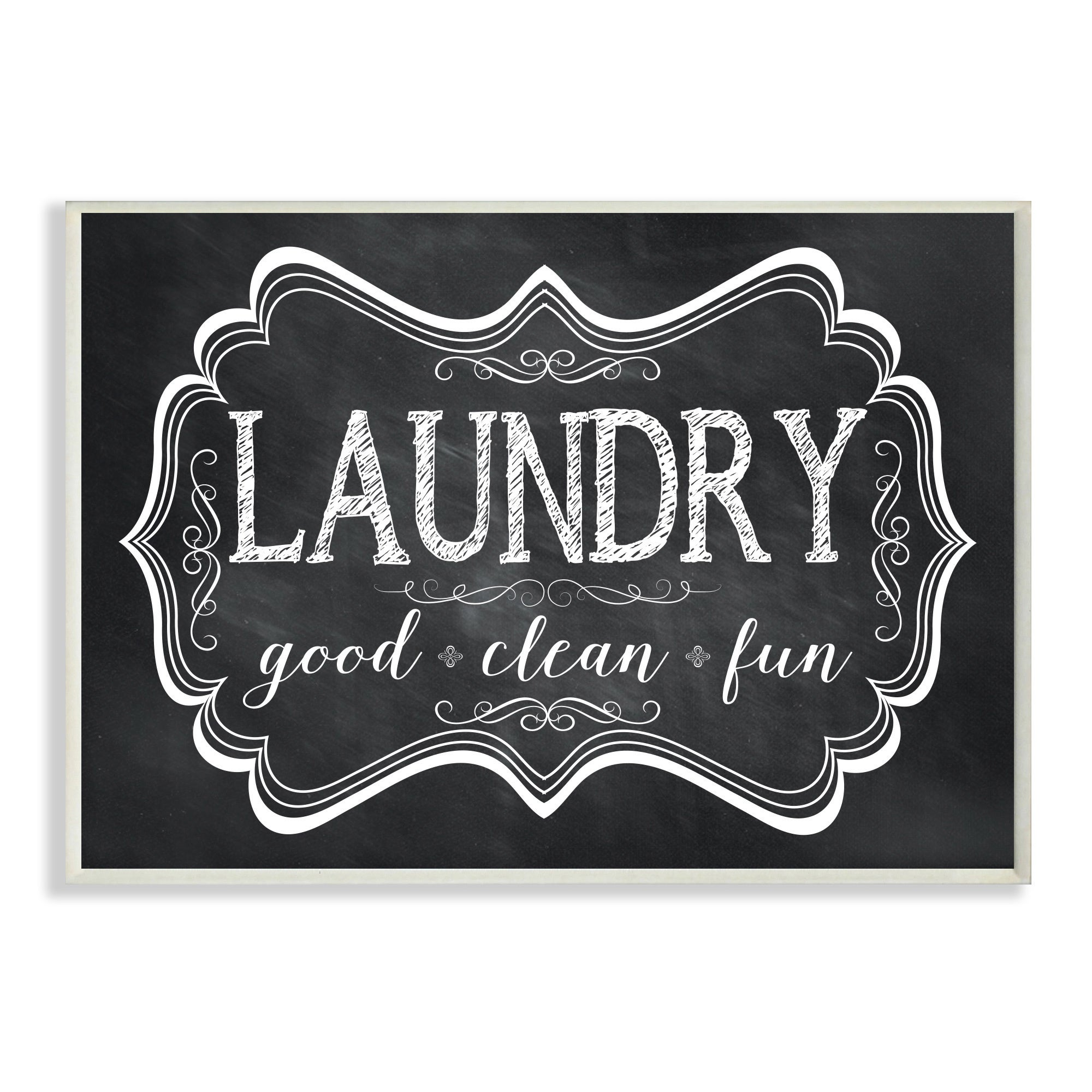 Laundry Wall Plaque Amusing Laundry Good Clean Fun' Chalkboardlook Wall Plaque Art  Free Design Decoration