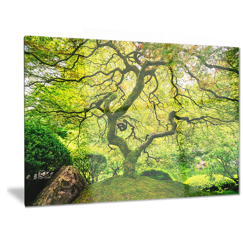 Shop Designart \'Amazing Green Tree\' Photography Metal Wall Art - On ...
