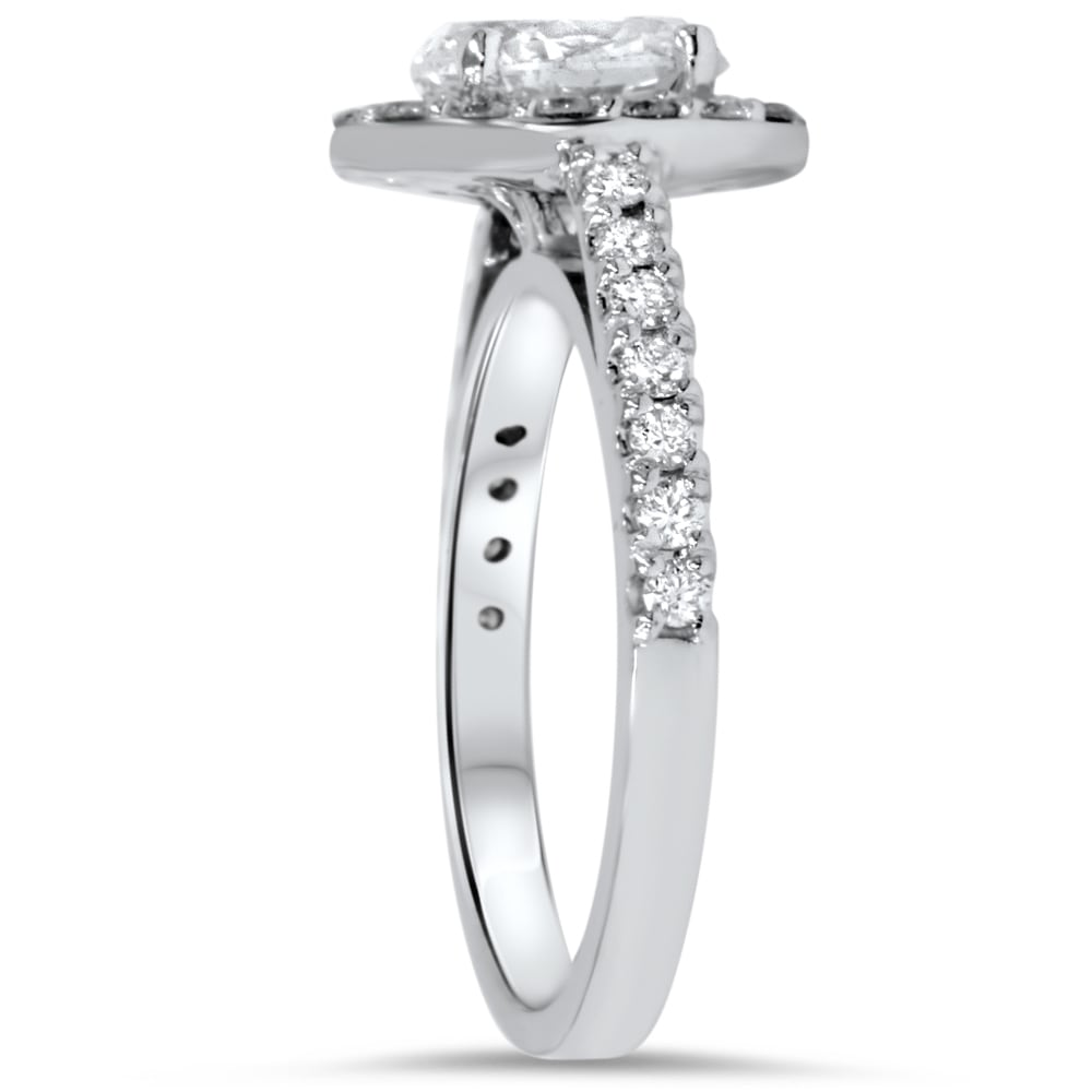 mounting with rings rose ring head platinum engagement tw ct white in diamond halo gold
