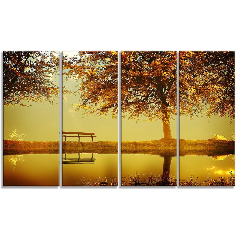 Designart \'Golden Planet\' Landscape Photography Metal Wall Art ...