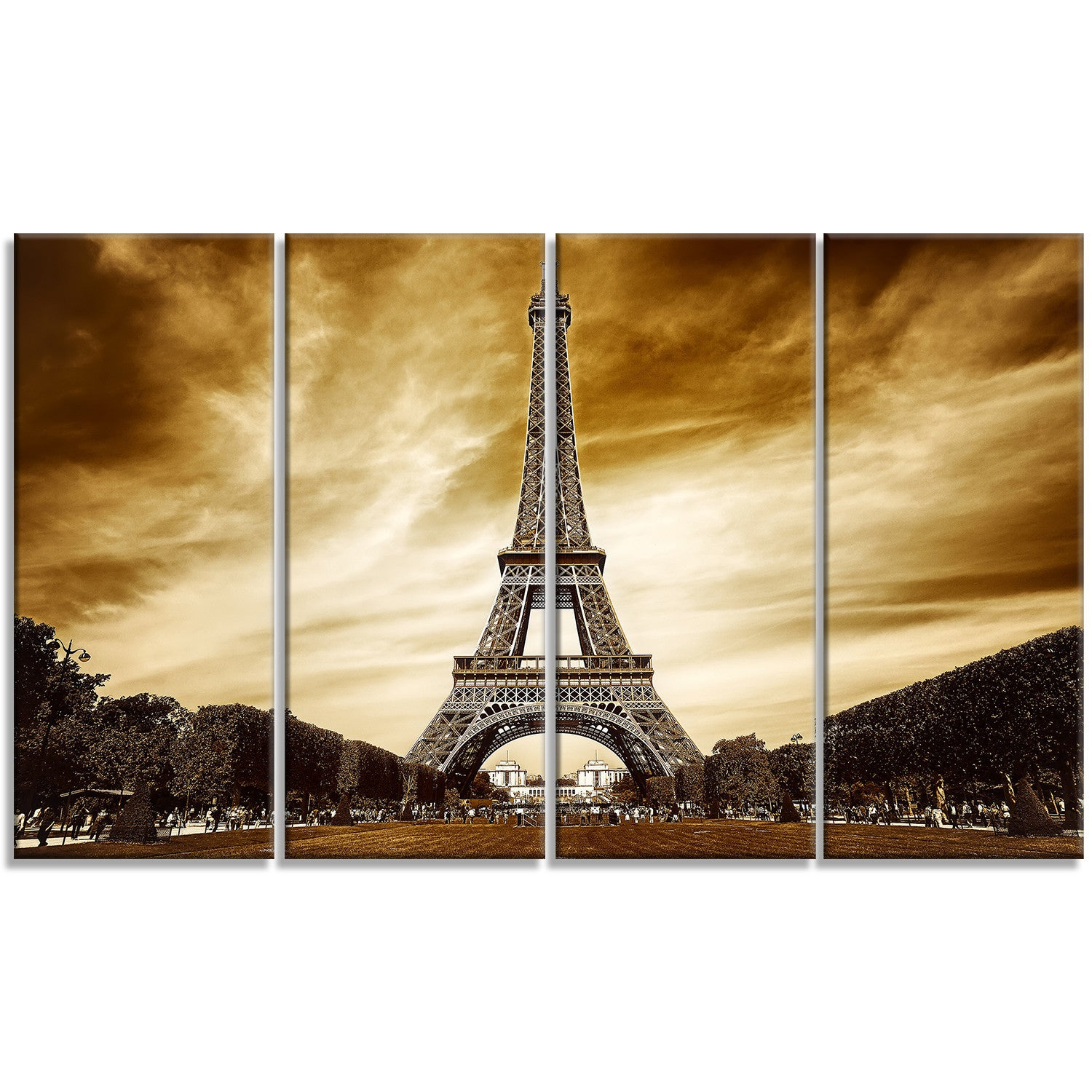 Contemporary Wall Art Eiffel Tower Frieze - All About Wallart ...